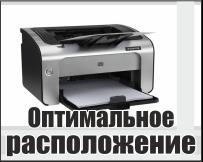 Оптимальное расположение принтера